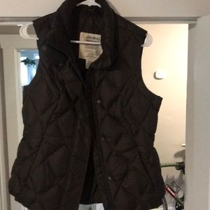 Eddie Bauer chocolate brown goose down vest